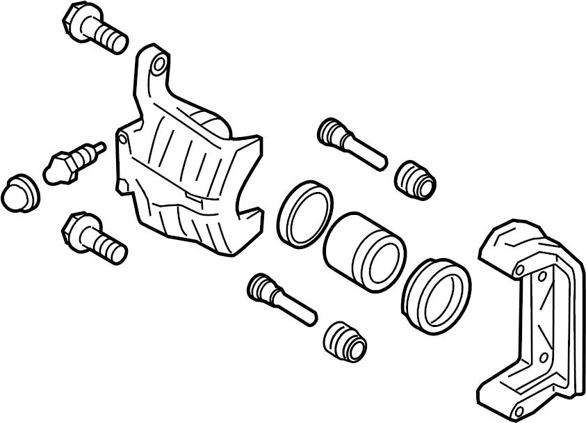 INFINITI QX56 Disc Brake Caliper (Left, Rear). PARKING