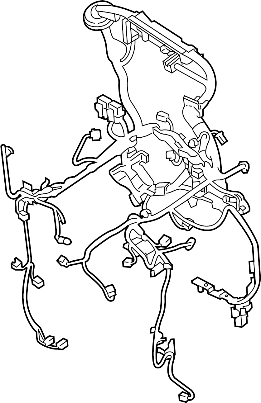 INFINITI M37 Engine Wiring Harness. BODY, EGI, ROOM