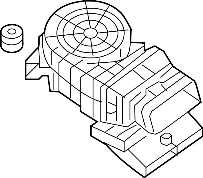 INFINITI JX35 Hvac blower case (lower). Cooling, unit