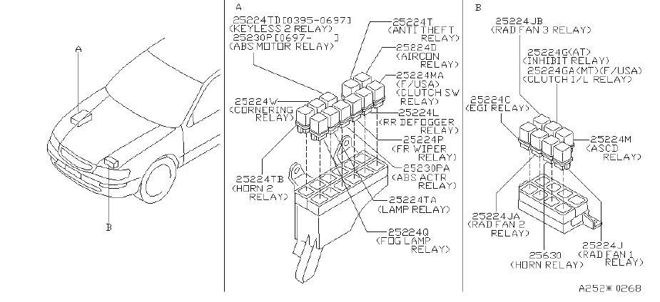 INFINITI I30 Relay Air Conditioner. Relay EGI. Relay Fog