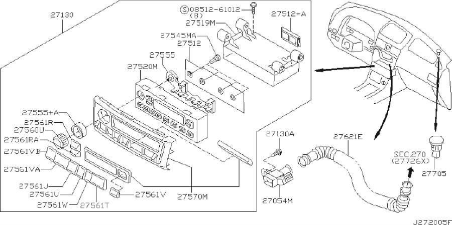 INFINITI I35 Lamp Heater Control. AIR, AUTO, MANUAL