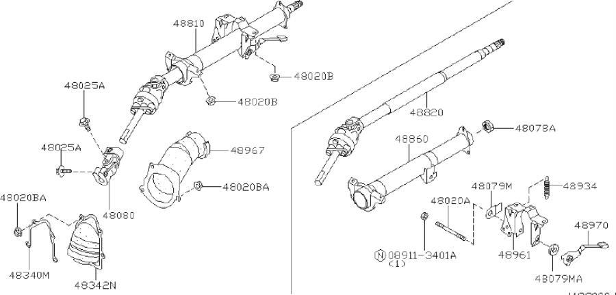 INFINITI Q45 Steering Shaft Universal Joint (Lower). STRG