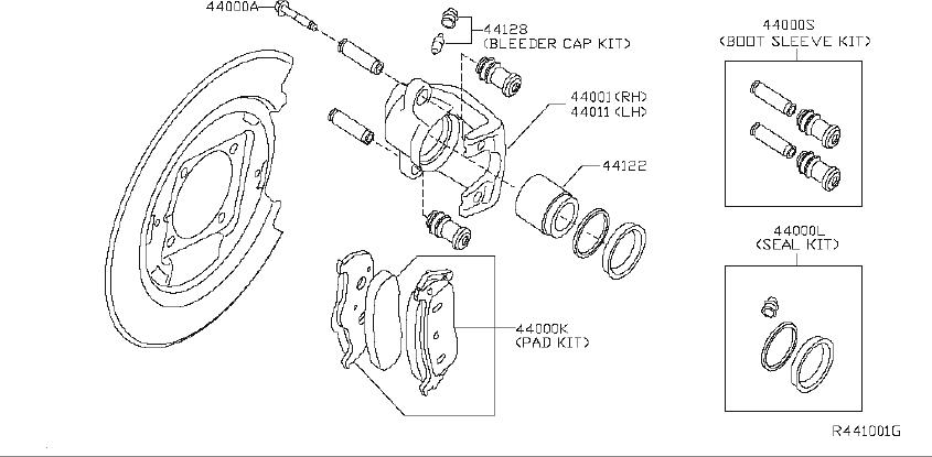 INFINITI QX56 Pad Kit Disc Brake. FINAL, BOSCH, REAR