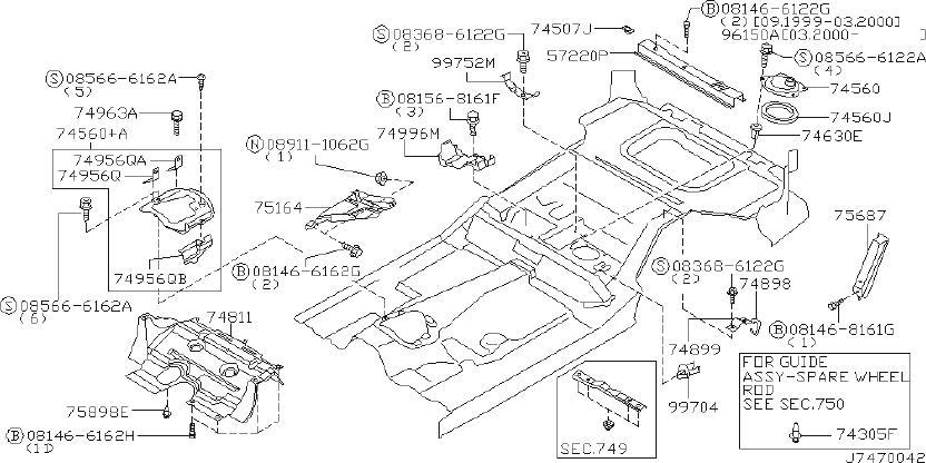 INFINITI QX4 Radiator Support Splash Shield (Lower