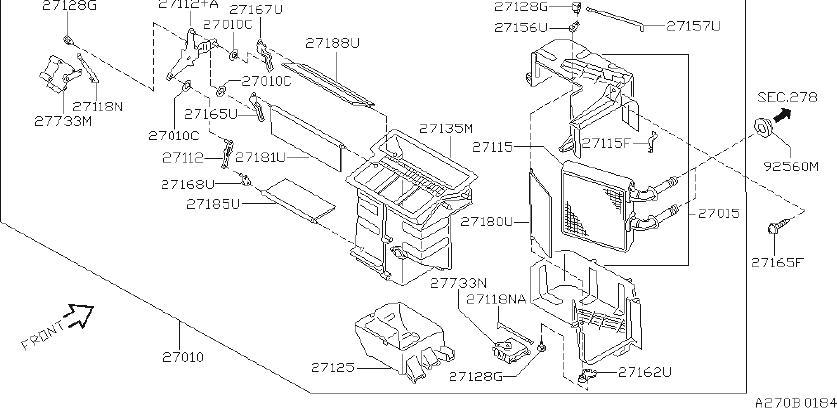 INFINITI G20 Hvac blower motor resistor. Unit, manual