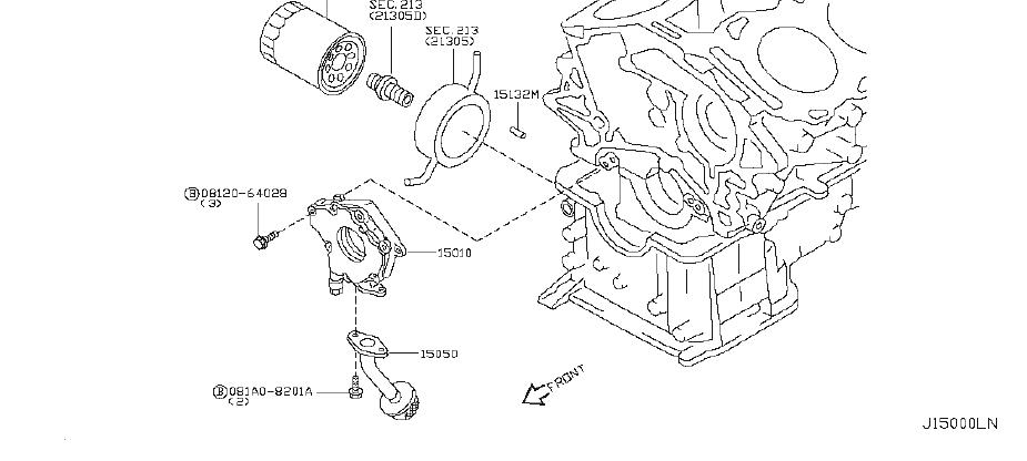 INFINITI FX35 Strainer Oil. LUBRICATING, SYSTEM, REV