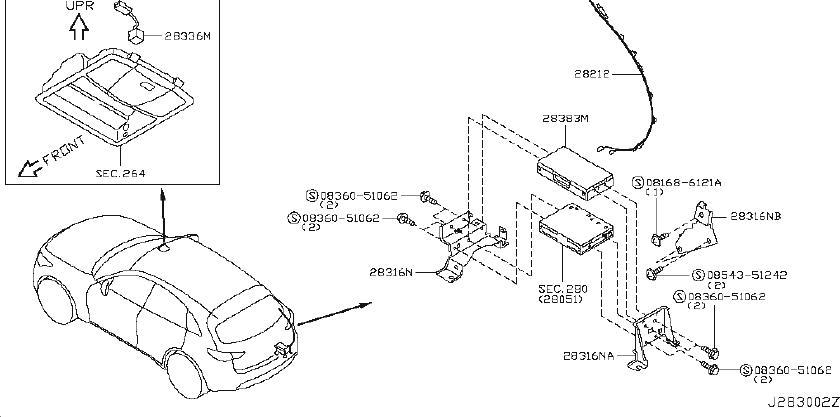 INFINITI FX35 Mobile Phone Control Module Bracket. MIC