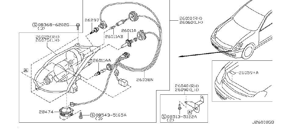 2003 INFINITI G35 Control Unit XENON Head Lamp. Control