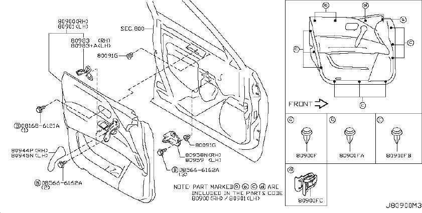 INFINITI QX56 Door Interior Trim Panel (Right, Front