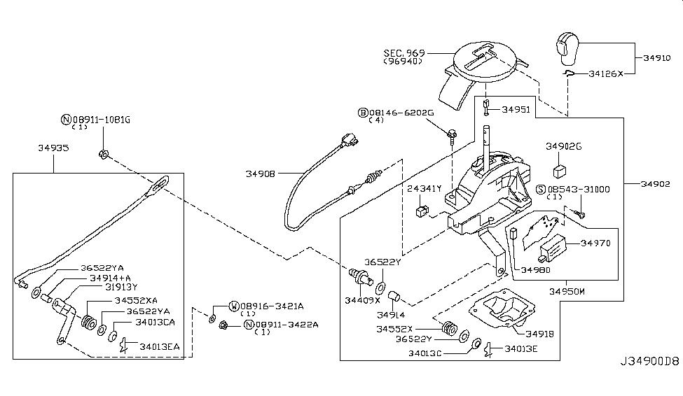 2006 Infiniti G35 Coupe Auto Transmission Control Device