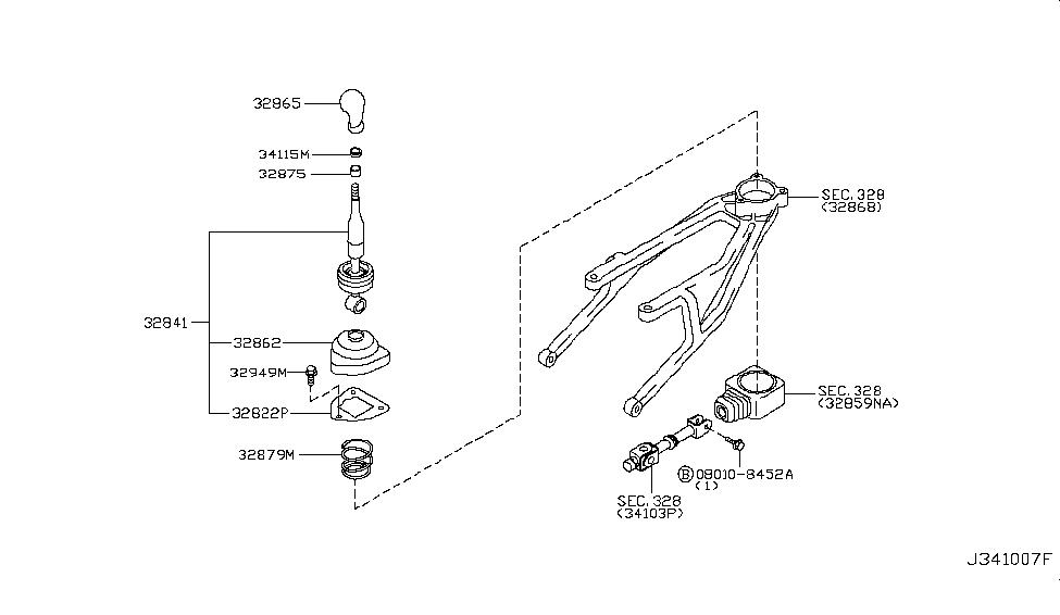 2007 Infiniti G35 Coupe Transmission Control & Linkage