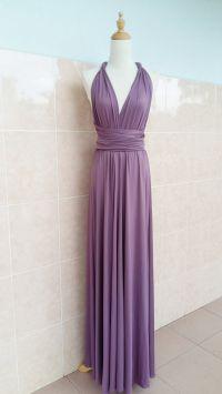 Long dress transformer, dusty rose bridesmaids dress ...