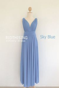 Sky Blue Infinity Dress, Floor length Bridesmaid Dress ...