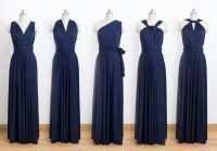 Dark blue Convertible Dress, Bridesmaid Dress, Infinity