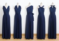 Dark blue Convertible Dress, Bridesmaid Dress, Infinity ...