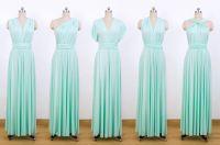 Set of 5 Convertible bridesmaid dress, Long Red bridesmaid ...