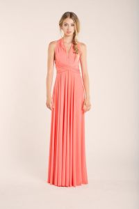 Coral bridesmaid dresses, Convertible Bridesmaid Dress