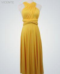 Mustard Long infinity dresses, Floor Length Wrap ...