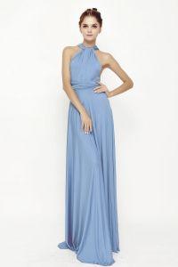 1 Sky Blue Infinity Dresses, Long Convertible Bridesmaid ...