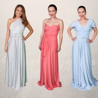 Set of 12 Infinity Bridesmaid Dress, Convertible Wrap ...