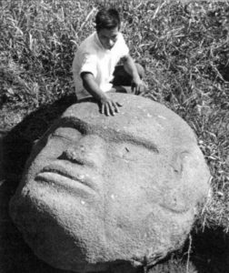 Giant Stone Head Of Guatemala