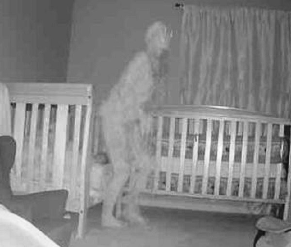 A Terrifying Horned Demon Was Captured By Camera Near A Child's Bed