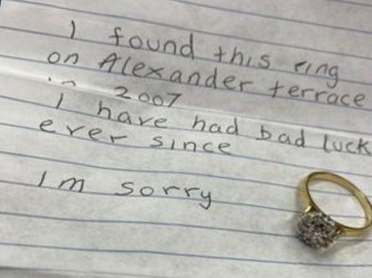 Cursed Ring Was Sent To A Police Station