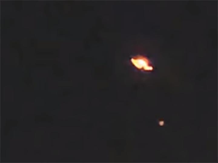 Glowing UFO