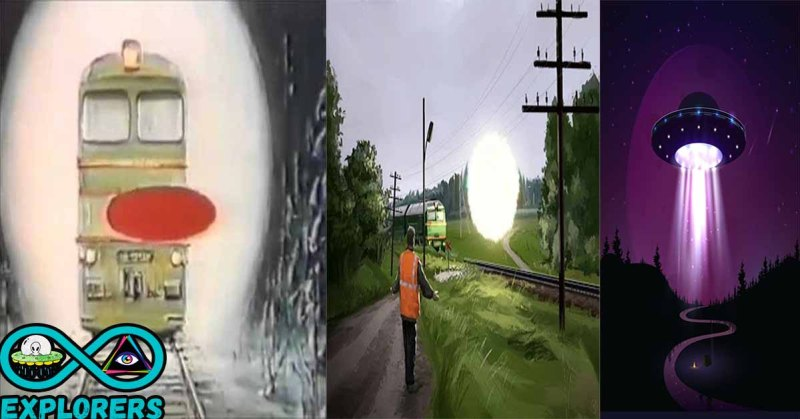 Train Pulled By A UFO For An Hour