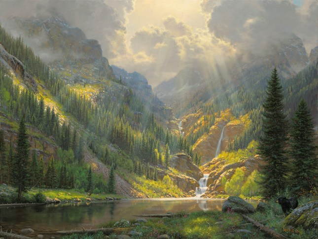 American Paint And Wallpaper Fall River Rocky Mountain Majesty By Mark Keathley