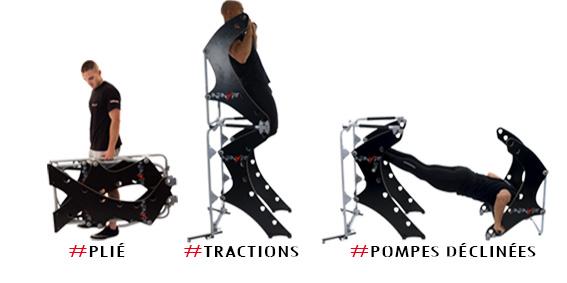 Mieux qu 39 une chaise romaine polyvalent pliable transportable progressif infinyfit - Programme chaise romaine ...