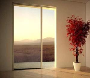 Zanzariera di design in un appartamento di Milano
