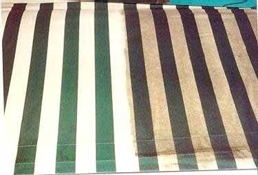 Pulizia delle tende da sole per evitare l'insorgere di muffe