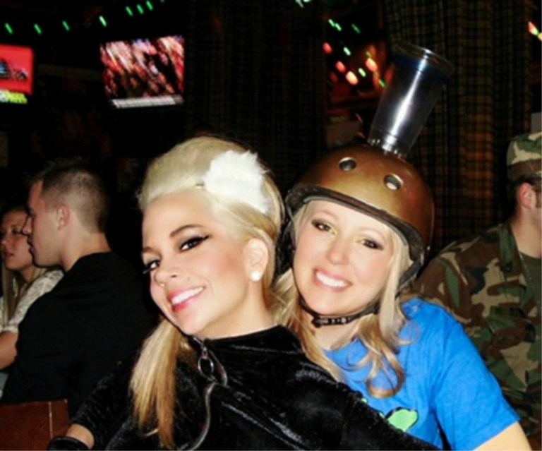 Me and my friend Jackie on Halloween at a bar
