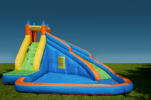 Tobogani  Water Park Paddling Pool with Inflatable Slide 12 m includes static blower