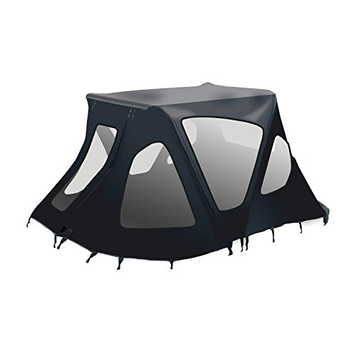 ALEKO BWTENT250BK Winter Canopy Boat Tent Rain Sun Wind Snow Waterproof Shelter Covering for Inflatable Boat  sc 1 st  Inflatable Boats Parts u0026 Accessories & ALEKO BWTENT250B Winter Canopy Boat Tent Sun Shelter Sunshade ...