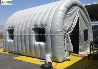 Grey Tunnel Air Inflatable Tents With Windows , Inflatable ...