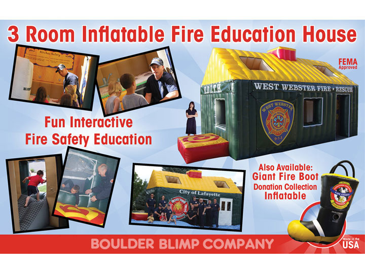 Inflatable Fire Education House  Inflatable Fire