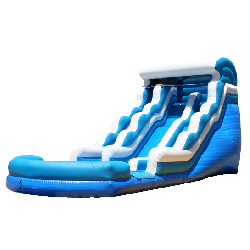 Dual Lane Double Drop Water Slide