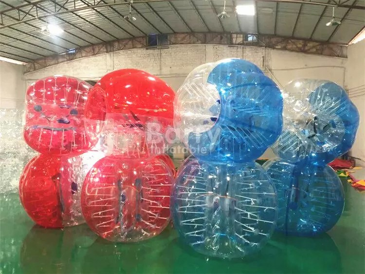 red clear outdoor inflatable