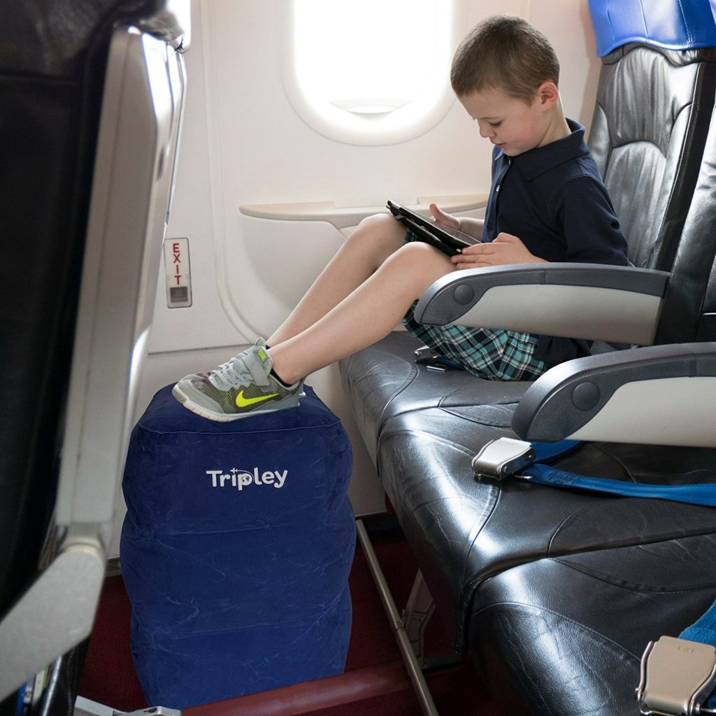 fly comfortably with an airplane footrest