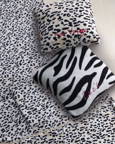 leopard travel blanket and pillow set