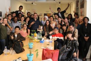 International students in French course in France in Lyon