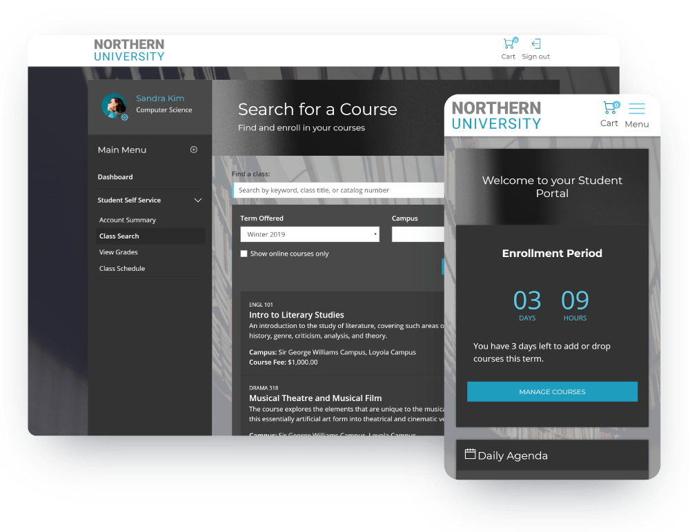 Manage Classes Screen