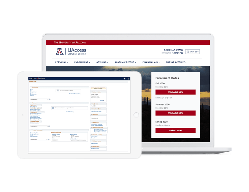 University of Arizona campus portal