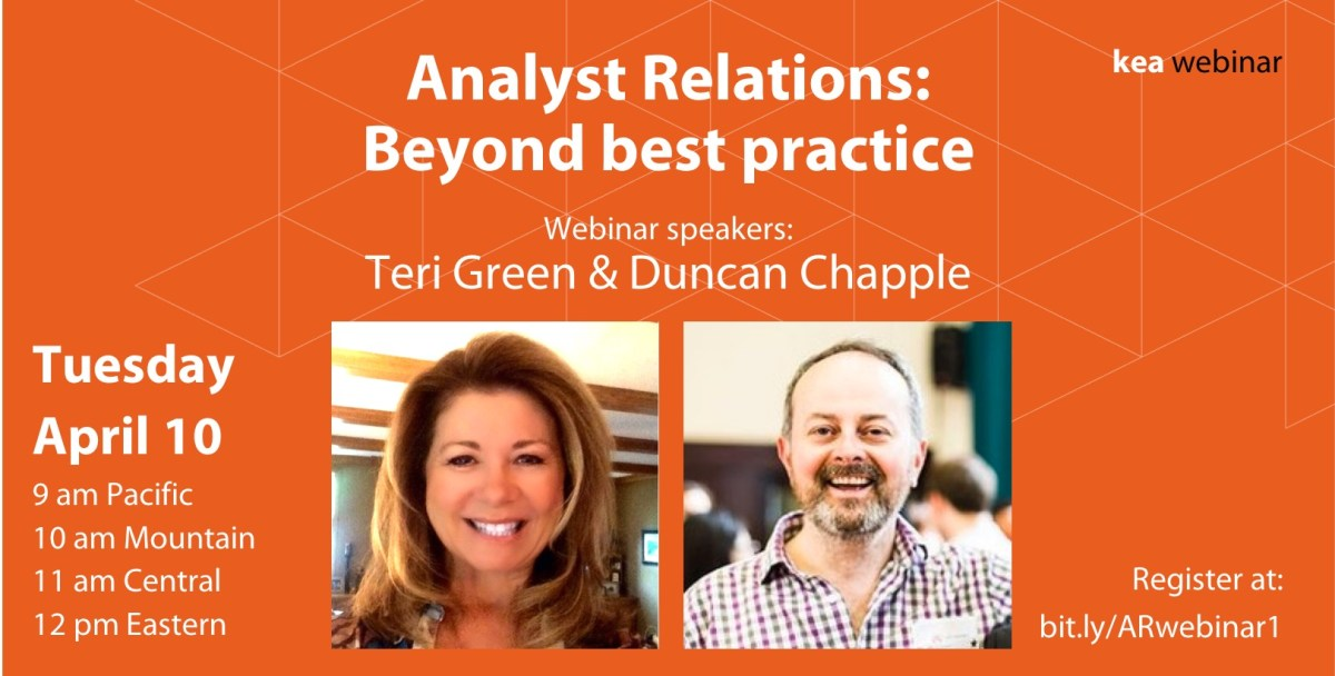 Analyst relations webinar: Beyond best practice