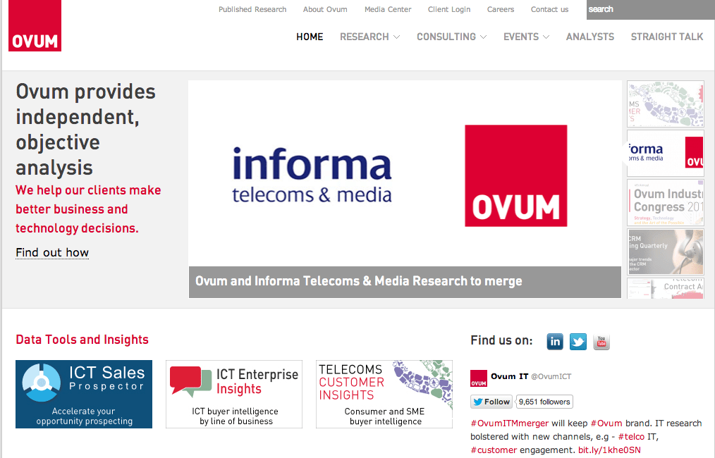 Informa T&M rebrands as Ovum