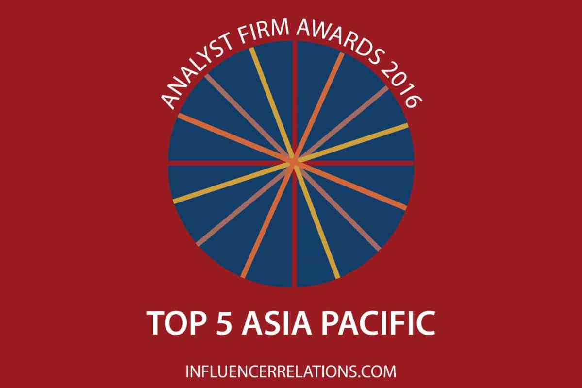 Gartner wins 2016 Asia Pacific Analyst Firm Awards