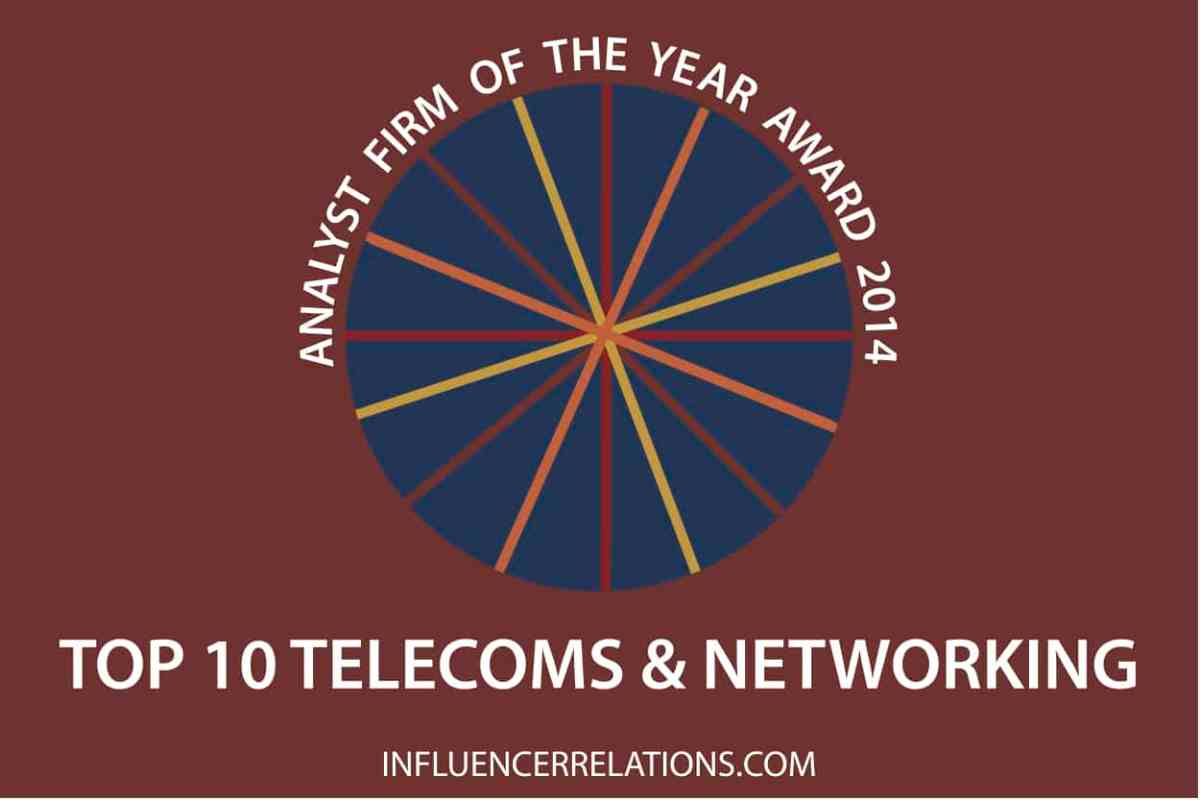 Announcing 2015's ten top telecoms analyst firms