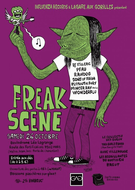 Affiche Freak Scene couleur